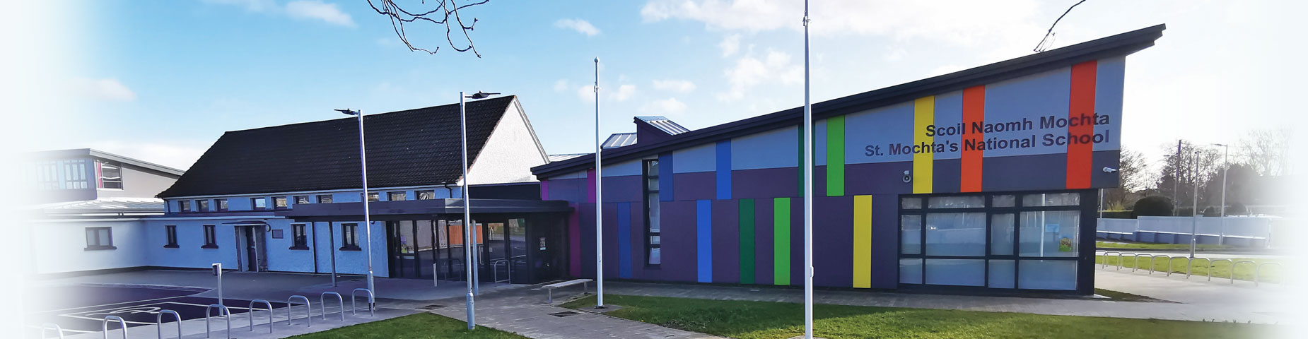 St Mochta's National School building front