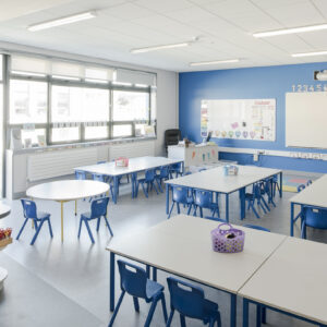 St Mochtas National School blue classroom