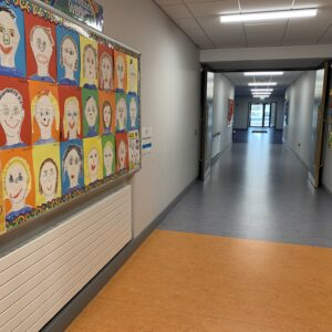 St Mochtas National School corridor with art